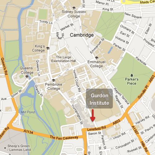 Gurdon Institute Map